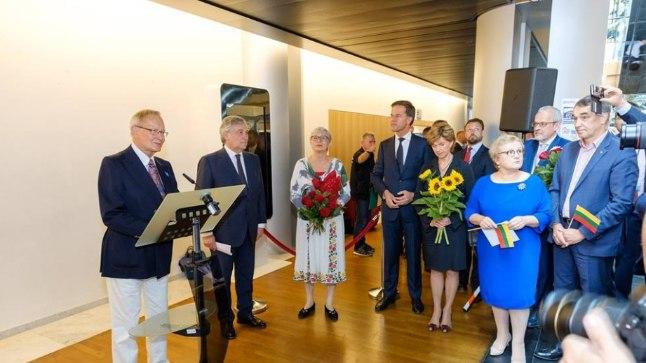 Kõnepuldis on Eesti eurosaadik Tunne Kelam