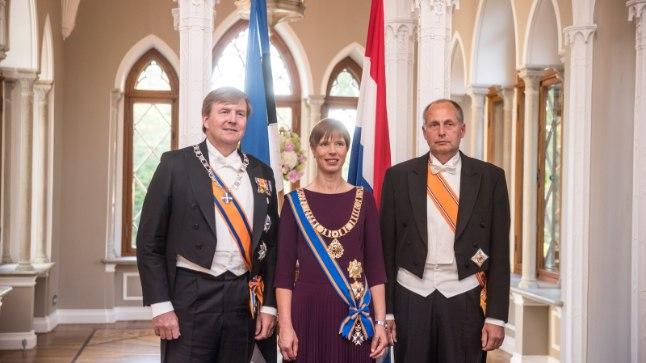 Presidendipaar võõrustab Madalmaade kuningat.