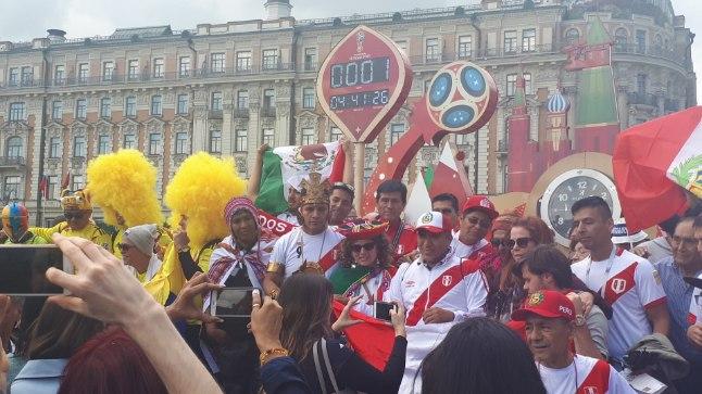 Moskva jalgpalli MMi eelõhtul.