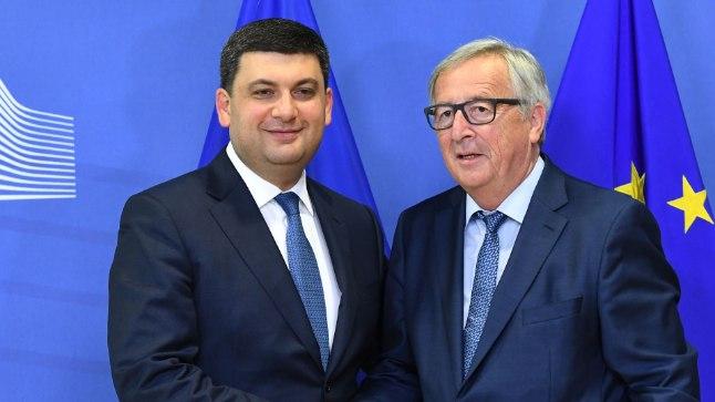 Премьер-министр Украины Владимир Гройсман и Председатель Европейской комиссии Жан-Клод Юнкер