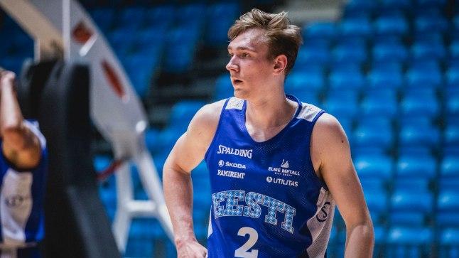 Sander Raieste Eesti koondise treeningul.