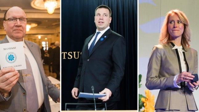 Mart Helme (EKRE) | Jüri Ratas (KE) | Kaja Kallas (RE).