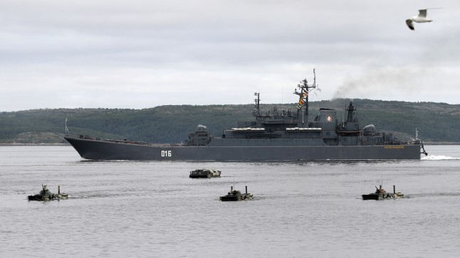 Vene sõjalaev Severomorski sadamas
