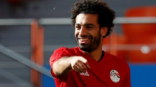 Mohamed Salah tänasel Egiptuse koondise treeningul.