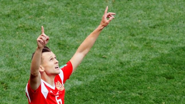 Venemaa 2:0 värava autor Denis Tšerõšev, kes sekkus avapoolaja keskel vahetusest, sest Alan Dzagojev tõmbas tagareie ära.