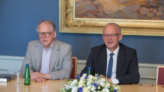 Riigikogu esimees Eiki Nestor ja aseesimees Enn Eesmaa tegid kokkuvõtte kevadisest istungijärgust