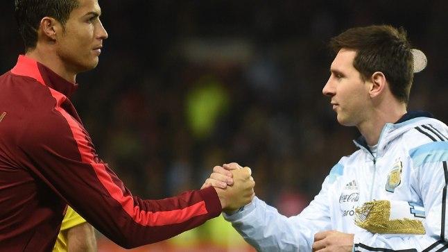 VÕLURID VASTAMISI: Ronaldo ja Messi.