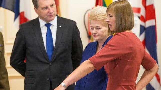 BALTI RIIGIPEAD: President Kersti Kaljulaid võõrustas kolleege: Eestis käisid Raimonds Vējonis (Läti) ja Dalia Grybauskaitė (Leedu). Foto on tehtud 2017. aastal.