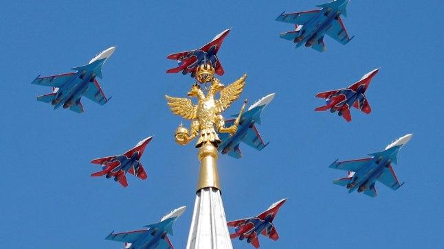 МиГи-29 на Параде 9 мая в Москве