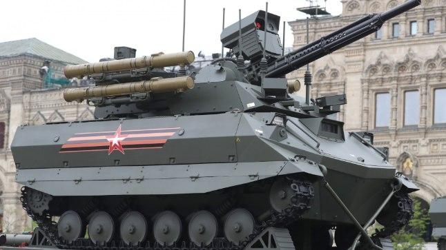 Uran-9 tänavu Moskvas võidupüha paraadi proovis.