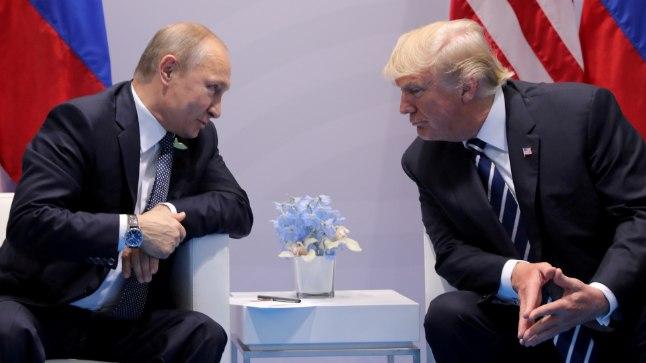 Trump ja Putin läinud aasta juulis Saksamaal, kus toimus G20 tippkohtumine