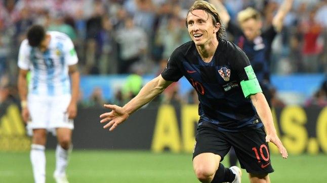 Modric Argentina vastu löödud väravat tähistamas.