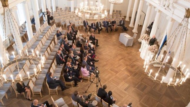 Presidendid TÜ rektori Tõnu Lehtsaarega kohtumas Tags: Presidendid TÜ rektori Tõnu Lehtsaarega kohtumas