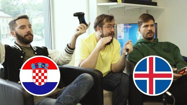 Sten kehastus Horvaatiaks, reket aga Islandiks. Päriselus tabas põhjamaalasi kaotus, aga kas seda ka videomängus?