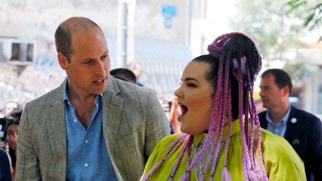 Prints William ja Netta Tel Avivis ühisel jalutuskäigul.