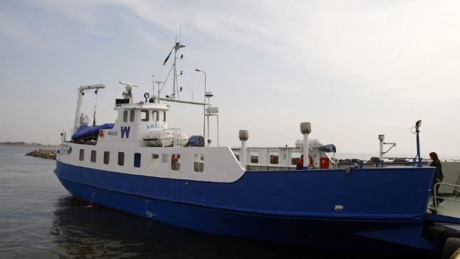 KATKI: Parvlaev Amalie tugeva tuule tõttu nädala lõpus sõite Ruhnusse ei tee.