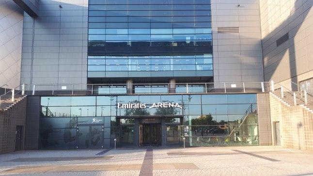 Emirates Arena fassaad.