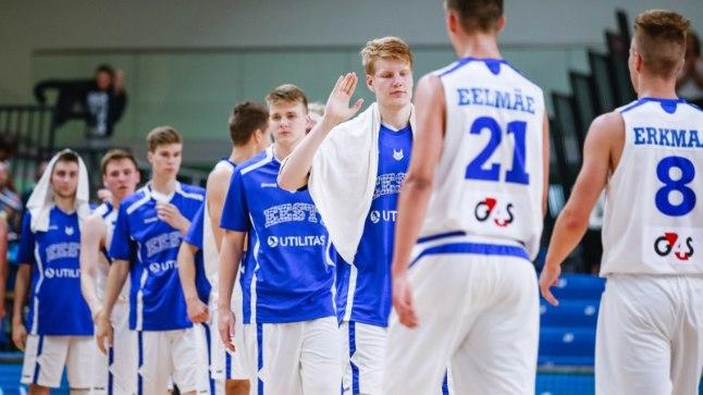 Noored Eesti korvpallurid. Pilt on illustratiivne.