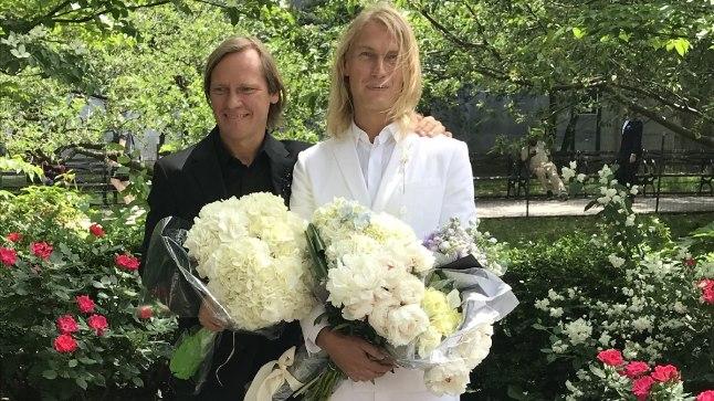 Mart ja Taivo oma pulmapäeval