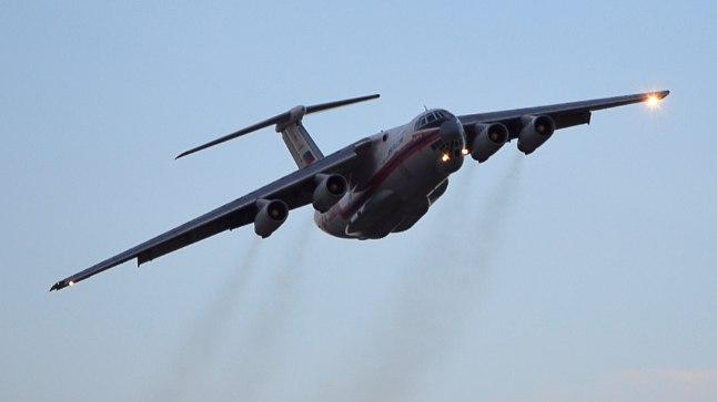 Il-76 tüüpi lennuk. Illustreeriv foto