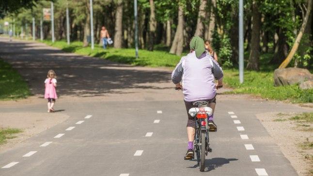 Jalgrattur. Foto on illustratiivne.