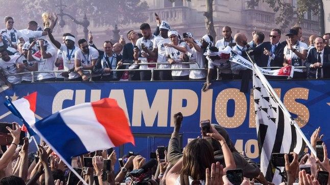Prantsusmaa koondise vastuvõtt.