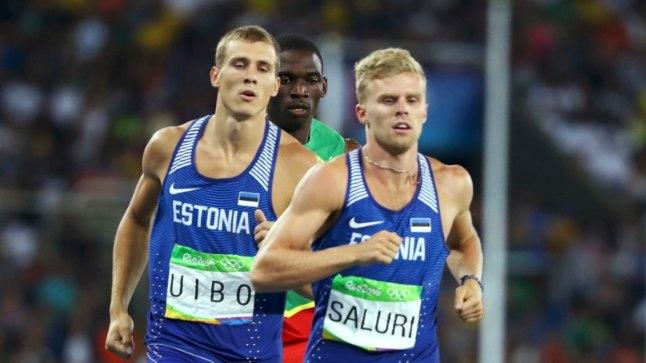 Maicel Uibo (vasakul) ja Karl Robert Saluri Rio olümpial.