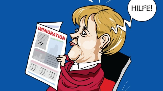 Karikatuur   Merkeli tool kõigub