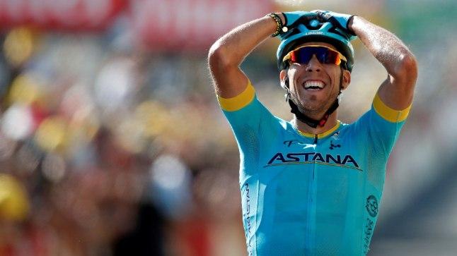 Hispaanlane Omar Fraile tänase etapi finišis.