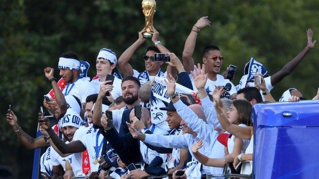 Võidukas Prantsusmaa meeskond