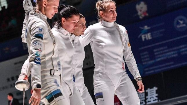 HEA VÕI HALB? Eesti naiskond (vasakult Katrina Lehis, Julia Beljajeva, Irina Embrich, Kristina Kuusk) lõpetasid MMi kuuendana.