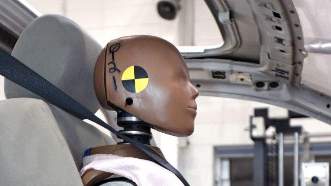 Autode turvalisuse testimisel kasutatav manneekeen ehk crash test dummy. Foto on illustreeriv.