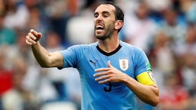 Uruguay jalgpallikoondise kapten Diego Godin.