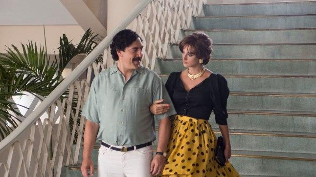 """SÄDET JÄÄB VÄHESEKS: Abielupaarile Javier Bardemile ja Penélope Cruzile on ette heidetud, et värskes filmis """"Pablo ja Escobari vahel"""" ei pääse Escobari ja tema armukese Virginia Vallejo vaheline kirg piisavalt esile."""