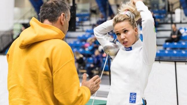 Erika Kirpu ja tema itaallasest treener Angelo Mazzoni.