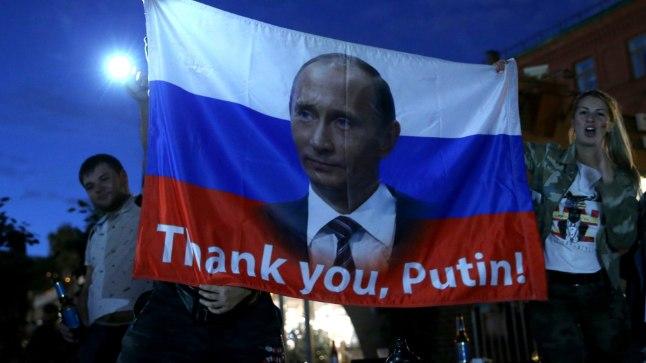 Mõned Venemaa jalgpallifännid arvavad, et koondise edus oli suur roll ka Vladimir Putinil.