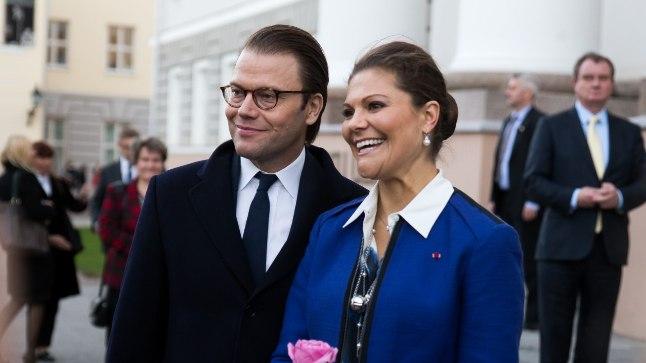 Rootsi kroonprintsess Victoria koos prints Danieliga Tartus 2014. aastal.