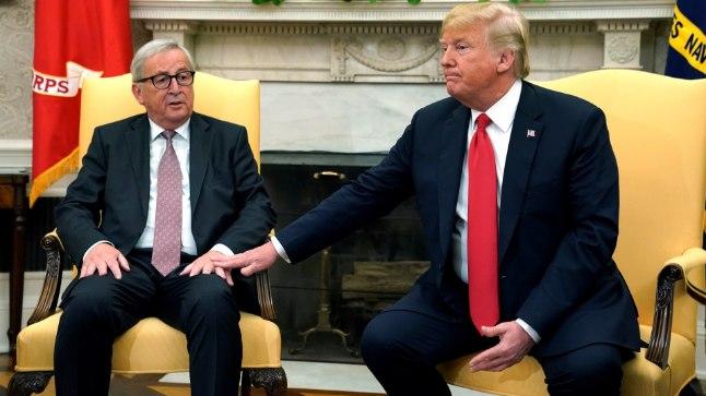Jean-Claude Juncker ja Donald Trump Valges Majas 25. juulil