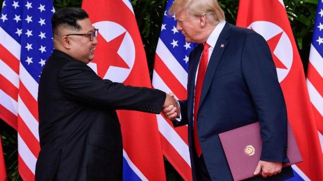 USA president Donald Trump ja Põhja-Korea liider Kim Jong-un