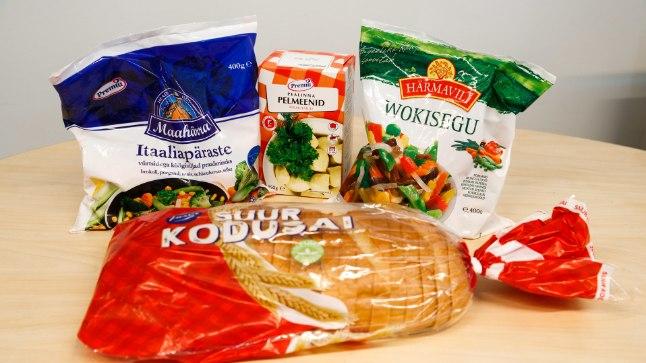 HEAD ISU: Ehkki kirjad pakendil on eestikeelsed, ei leia sellelt söögilaualt ühtegi Eestis toodetud toidukaupa.