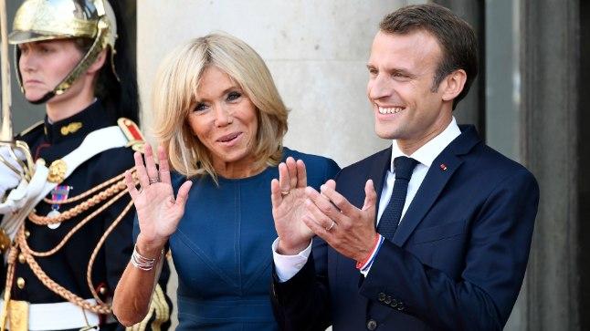 PRANTSUSMAA ESIPAAR: President Emmanuel Macron (40) koos abikaasa Brigitte Macroniga (65).