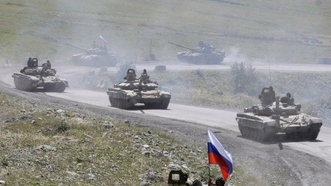 Venemaa tankid Lõuna-Osseetias Venemaa-Gruusia sõja ajal. Gruusia kaotas kümne aasta taguses sõjas viiendiku oma pindalast.