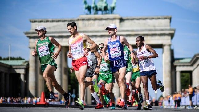 TÖÖ KÄIB: Tiidrek Nurme (sinises) lõpetas tänavuse EMi üheksanda kohaga, suurem eesmärk on tiitlivõistlustelt Eestile medal võita!