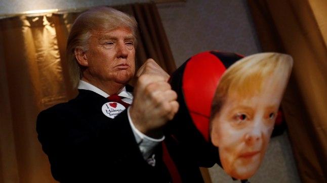 Donald Trumpi elustatud vahakuju Berliini Madame Tussauds' vahakujude muuseumis.