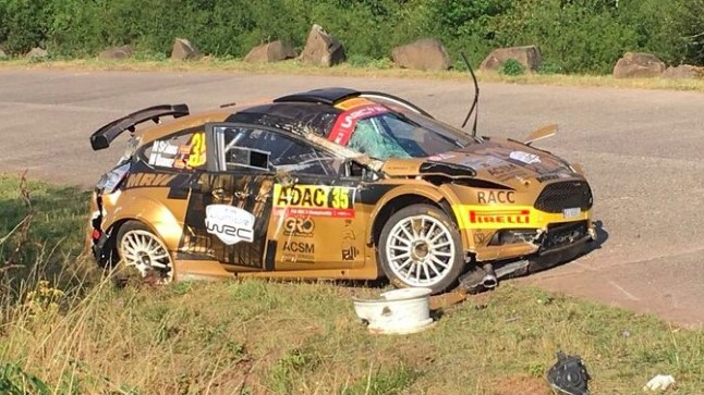 Nil Solansi auto pärast avariid.