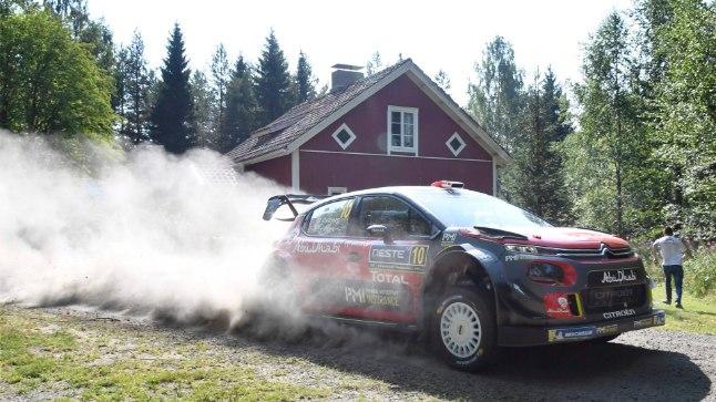 Mads Östberg Soome rallil.