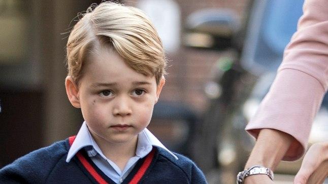 Prints George mullu septembris esimesel koolipäeval.