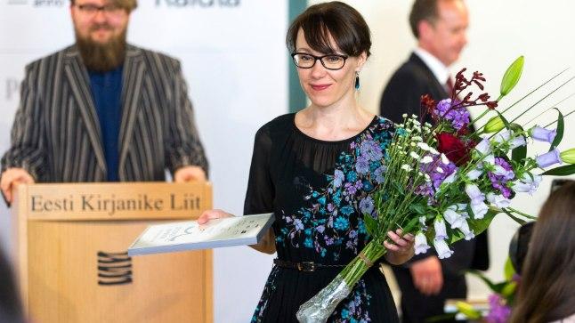 Eva Koff Kirjanike Liidu romaanivõistlusel 2017.