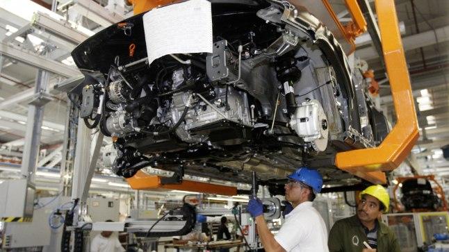 Volkswagen Jetta montaaž Volkswageni Mehhiko tehases. Puebla autotehas on VW suurim vabrik Ameerikas ja üldse üks maailma suurimaid. Aga vihma sadamist see siiski teadaolevalt takistada ei suuda.