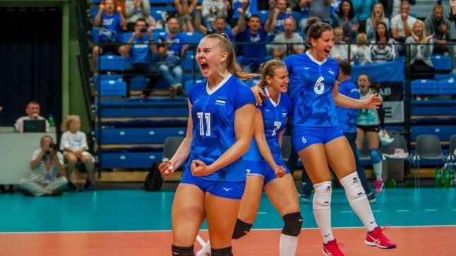 Eesti võrkpallikoondis sai Tšehhi üle magusa võidu.